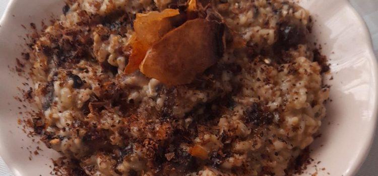 Ριζότο με μανιτάρια και πούδρα μανιταριών