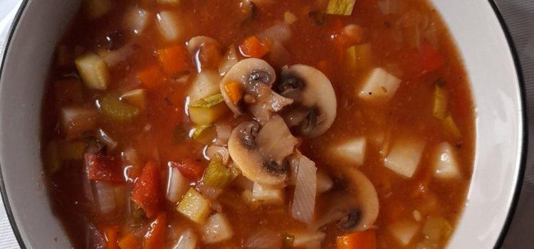 Σούπα Αγιορείτικη λαχανικών αλάδωτη