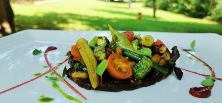 Σοφεγάδα λαχανικών με πιτάκι χαρουπιού